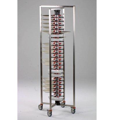 Combisteel Trolley Trolley folding - 60 Tables - 480x480x (h) 1490mm