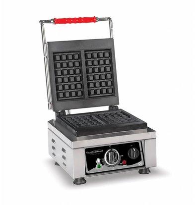 Combisteel Waffle iron Deluxe - 300x320x (h) 300mm - 2.2 kw