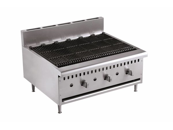 Combisteel Gas Grill - Rooster Opzetmodel - 27kw - 915x800x(h)590mm