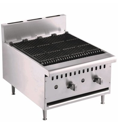Combisteel Lavasteengrill Gas - Design Model - 18kw - 615x800x (h) 590mm