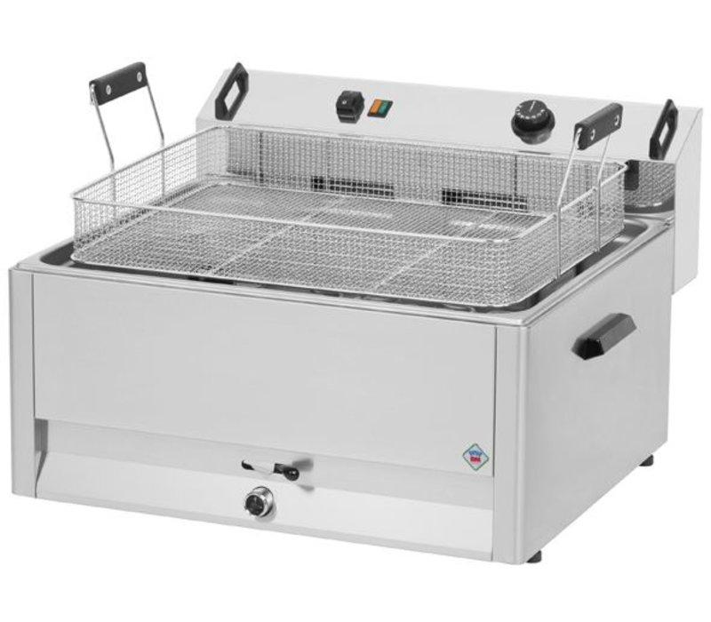 Combisteel Friteuse   Elektrisch   Bakkerij Vis en Oliebollen   16 liter   400V   9kW   560x540x(h)370mm