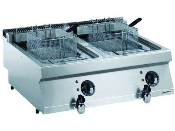 Combisteel Elektrische Friteuse 2 x 12 Liter - 17,4kw - 400V - 800x700x(h)250mm