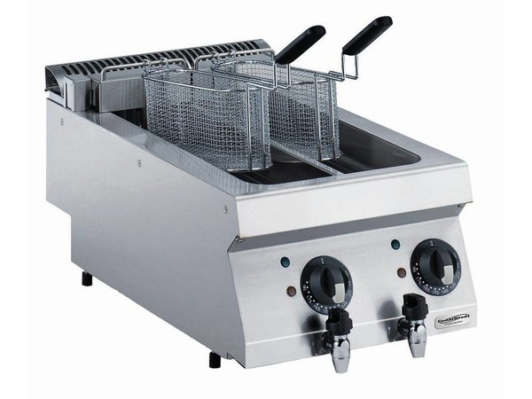 Combisteel Elektrische Friteuse 2 x 5 Liter - 9kw - 400V - 400x700x(h)250mm