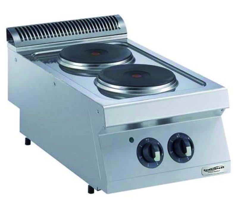 Combisteel Fornuis Elektrisch 2 Branders- 2 x 2,6kw - 400v - 400x750x(h)250mm