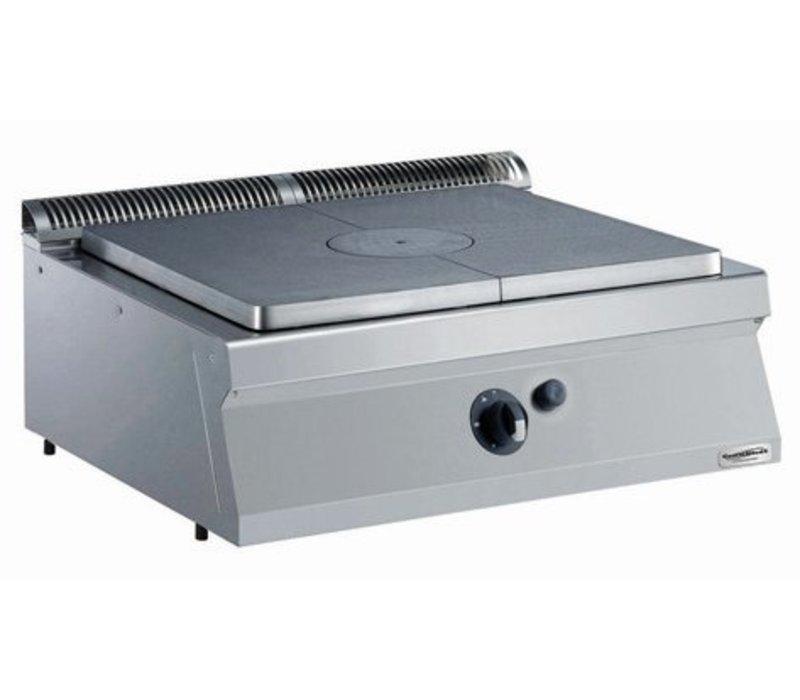 Combisteel Kookplaatunit Gas - 7kw - 800x700x(h)250mm