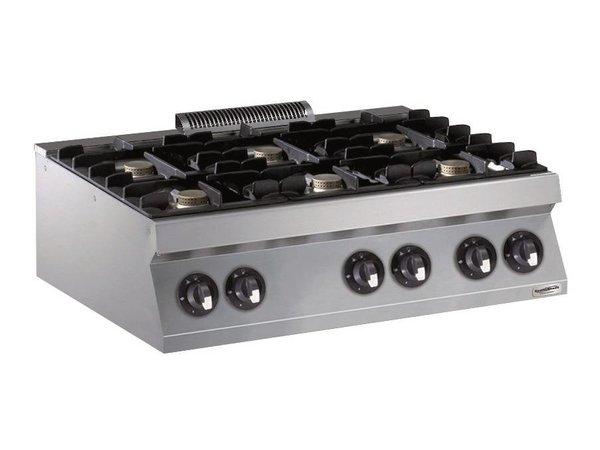 Combisteel Gasfornuis 6 Branders- 6 x 5,5kw - 1200x700x(h)250mm