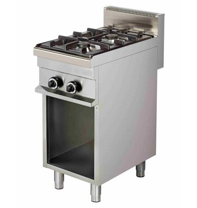 Combisteel Stove Gas 2 Pits Open chassis - 2 x 6kw - 400x700x (h) 900mm