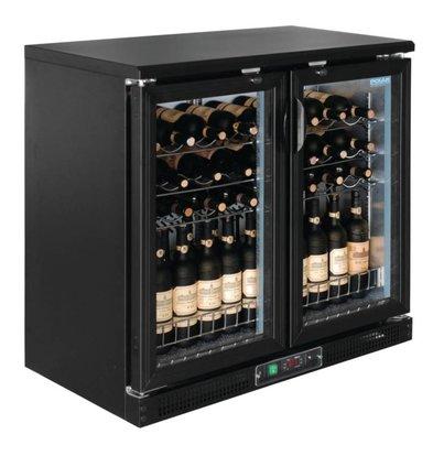 Polar Wine Fridge - Drinks chiller - With 2 hinged doors - 56 Bottles - 920x530,5x (H) 920mm