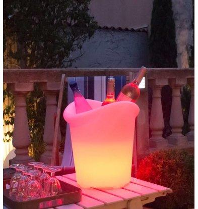 Lumisky Verlichte Wijnkoeler Yuppy C 35cm | 5W (Batterij) | Gekleurd Licht