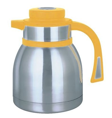 XXLselect Insulated - RVS - button closure - 1.5 liters - yellow