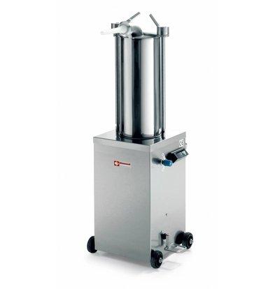 Diamond Worstenvuller / stuffing box on wheels - 15 liters - 0.7 HP - 490x700x (h) 1200mm
