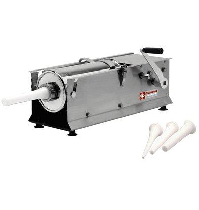 Diamond Worstenvulmachine - Manueel - 7 Liter - RVS - 660x220x(h)280mm