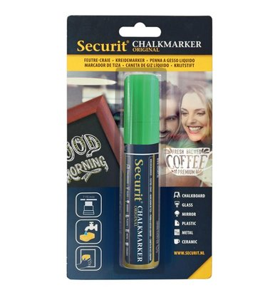 Securit Thick chalk pen Green | 7-15mm