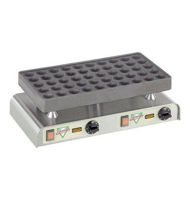 Neumarker Poffertjes baking tray - for 50 Poffertjes - 470x (H) 270mm - 2.2KW