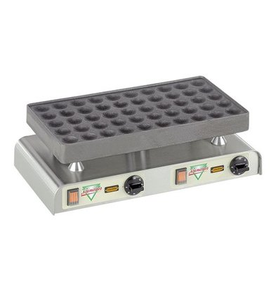 Neumarker Poffertjes Bakplaat - voor 50 Poffertjes - 470x(h)270mm - 2.2KW