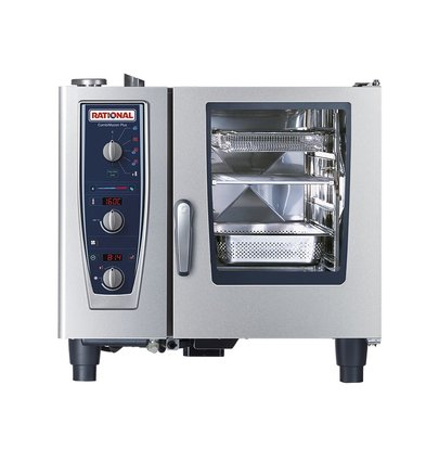 Rational Rational Steamer CM 61E Plus Elektrisch | Combimaster Plus 61 | 6x1/1GN of 12x 1/2GN | 30-80 Couverts