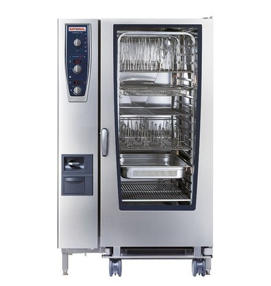 Rational Rational Steamer CM 202G Plus Gas | Combimaster Plus Type 202 | 20x2/1GN of 40 x 1/1GN | 300-500 Couverts