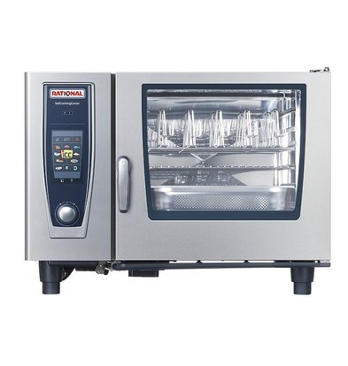 Rational Rational SCC Combisteamer 62G Gas | SelfCooking Center 62 | 6x2 / 1GN or 12 x 1 / 1GN | 60-160 Place Settings