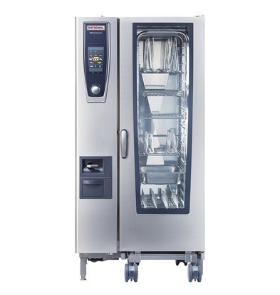 Rational Rational SCC 201G Gas Steamer | SelfCooking Center Type 201 | 20x1 / 1GN or 40 x 1 / 2GN | 150-300 Place Settings