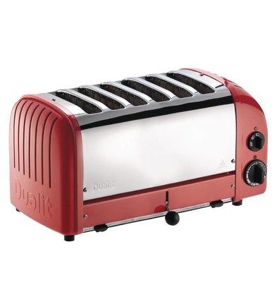 Dualit Toaster Dualit Red   6 Slots   up to 195 slices p / u