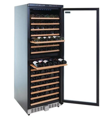Polar Wine Cellar with 2 Zones - 155 Bottles - Blue LED Screen - 595x680x (H) 1805mm