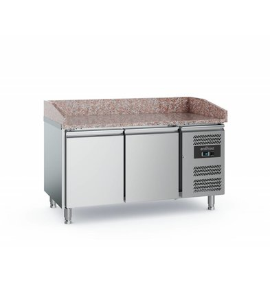 Ecofrost Pizza workbench - stainless steel - 2 doors - 152x800x (h) 100cm