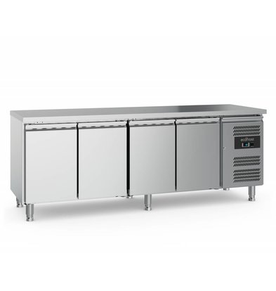 Ecofrost Cool workbench - stainless steel - 4 doors - 553 liters -223x70x (h) 85cm