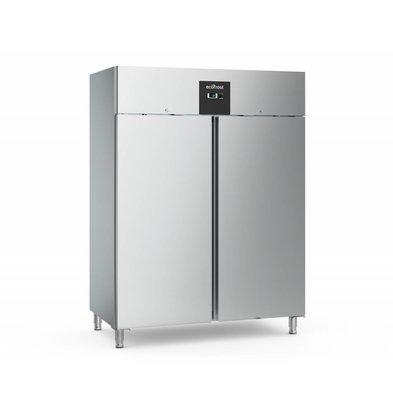Ecofrost RVS Horeca Freezer - 1300 Liter - HEAVY DUTY - 148x83x (h) 201cm