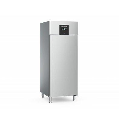 Ecofrost Stainless Steel Catering Fridge - 650 Liter - HEAVY DUTY - 74x83x (h) 201cm