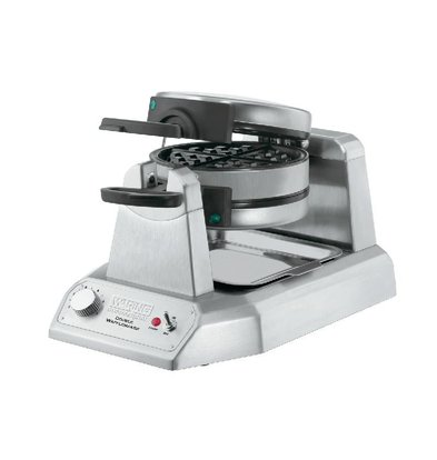 XXLselect Dubbele Wafelmaker Waring - Rond Model - WW200E - met Antikleef Platen - 265x432x(h)241mm - 1400W