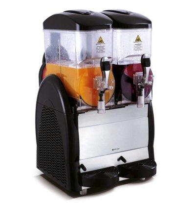 Hendi Slush Puppy Dispenser | 2x 12 Liter | Dag-Nachtmodus | -4/-2°C | 470x510x810(h)mm