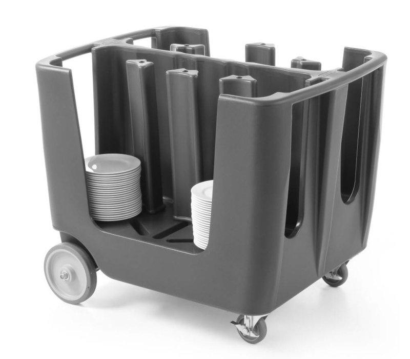 Hendi Bordenwagen PE | Voor 6 Stapels Borden Ø170-330mm | Op Wielen