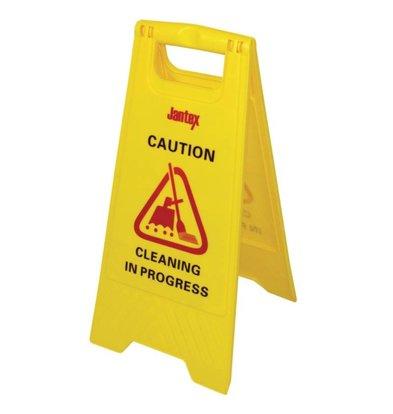 """Jantex Waarschuwingsbord """"Cleaning"""""""