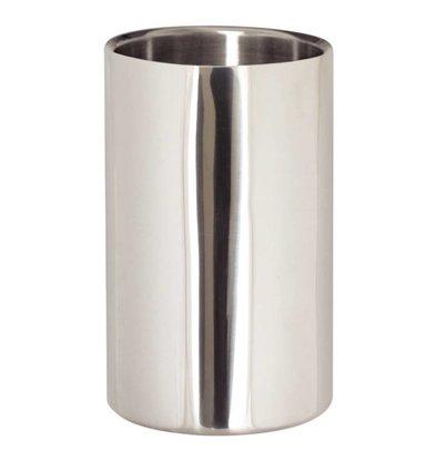 XXLselect Wijnkoeler / Champagnekoeler - Gepolijst RVS - Ø12cm x 19,5(h)cm