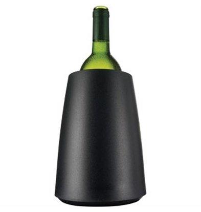 Vacu-vin Vacu-Vin Wijnkoeler Mat Zwart - Koelt In 5 Minuten -Ø15,5cm x 23(h)cm