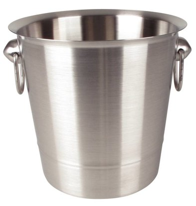 Olympia Wine Cooler stainless steel - with handles - Ø19cm x19 (H) cm