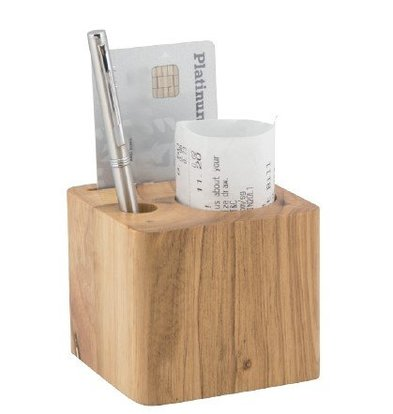 Securit Account holder Wooden Block with 3 Compartments 70x80x80mm