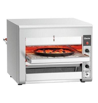 Bartscher Doorloop Pizzaoven RVS | voor Pizza's tot Ø320mm  | 3,5kW | 1045x472x395(h)mm
