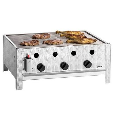 Bartscher Gas Table Roasting Grill 10kW | Grill rack | 3 Burners 685x560x275 (h) mm