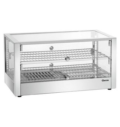 Bartscher Warming showcase SQUARE   80 liters 1kW   Two-sided Operable 700x430x365 (h) mm