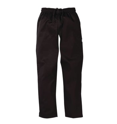 Whites Chefs Clothing Black Chefs Trousers Vegas - Polyester / Cotton - Available in 6 sizes - Unisex - XXL OFFER!