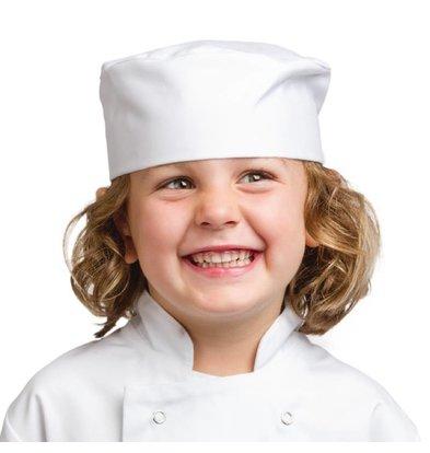 Whites Chefs Clothing Skull cap voor kinderen wit (5-7jr)