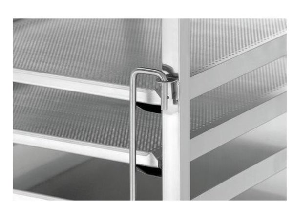 Bartscher Afruimwagen RVS | 7x Roosters 60x40cm | 535x685x1010(h)mm