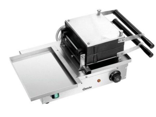 Bartscher Brussels Wafelijzer Deluxe | 1,5kW | RVS/Antikleef | 525x340x250(h)mm