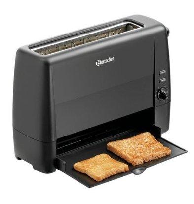 Bartscher Toaster Zwart Kunststof | 1 Sleuf | 1300W