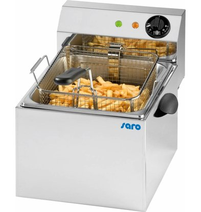 Saro Friteuse Elektrish | 8 liters | Removable Bassin and Element | 260x410x340 (h) mm
