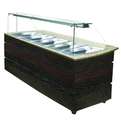 Combisteel Hot Buffet Wenge 1890 | 5x GN1 / 1 | 3030W | 1890x800x1355 (h) mm