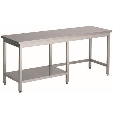Combisteel Gelaste Werktafel RVS + 1/2 Bodemschap | HEAVY DUTY | 1000(b)x800(d)mm | KEUZE UIT 20 BREEDTES