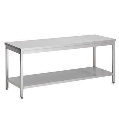 Combisteel Removable stainless steel Workbench + Bottom Shelf   BUDGET   800 (b) x600 (d) mm   CHOICE OF 7 WIDTHS