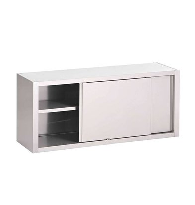 Gastro M Stainless steel Wall Cabinet with Sliding Doors - Available in 7 widths - 40 (d) x60 (h) cm